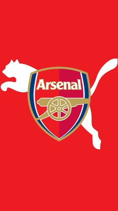 red background arsenal logo wallpaper for mobile