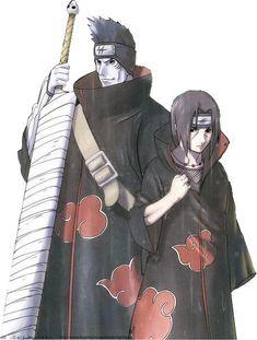 Kisame Hoshigaki and Itachi Uchiha. Naruto Kakashi, Anime Naruto, Kakashi E Sakura, Naruto Shippuden Sasuke, Shikamaru, Naruto Art, Boruto, Anime Manga, Akatsuki Clan