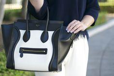 Britt+Whit  Classic Black and White Celine Bag