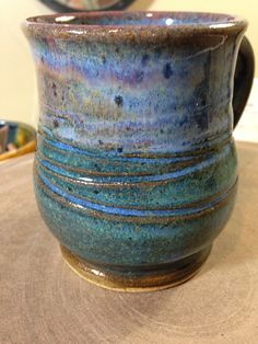 Mug with Indigo Float and Chun Plum