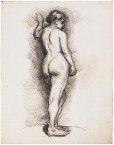 Standing Female Nude Seen from the Back by Vincent van Gogh Drawing, Pencil Paris: October - January, 1886 - 87