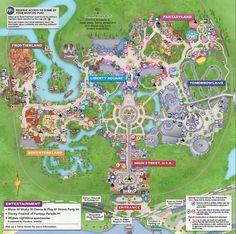 Printable Walt Disney World Park Maps | Disney | Pinterest | Walt ...