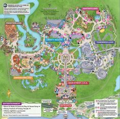 Disney World Map 2018 Pdf.Links To Printable Pdf Maps Of Walt Disney World Resort Including A