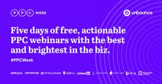 Get exclusive access to free, actionable PPC webinars with the best and brightest performance marketers in the biz.