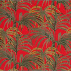PALMERAL Cotton Linen Red / Green