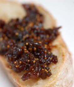 ***Alright, here's the recipe for the Fig and Balsamic Jam that I promised in my last post. This jam is used in the delicious Fig-Stuffed Ro... Dried Fig Recipes, Fig Jam, Dried Figs, Brunch, Appetizers, Breakfast, Desserts, Food, Morning Coffee