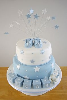 Lucas' Christening Cake by Emkatt77, via Flickr