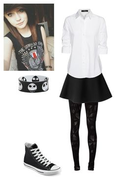 """""""PRP~Alexa (how she dresses at parties in items)"""" by kahumphh ❤ liked on Polyvore featuring Issey Miyake, Topshop, MSGM, Glamorous, Oh My Love, Motel, Steffen Schraut and Converse"""