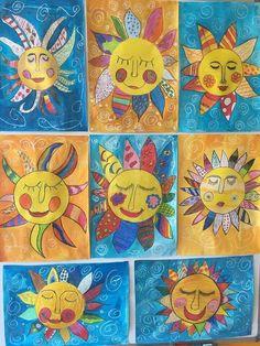 elena Lucchetta's 634 media content and analytics Spring Art Projects, Art Projects For Adults, Toddler Art Projects, Spring Crafts, Kindergarten Art, Preschool Art, 2nd Grade Art, Ecole Art, Sun Art