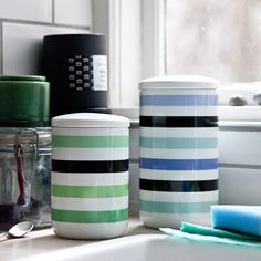 Colourful storage jars from Kähler. Buy all our products online