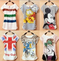 Women's Printed New Design Fashionable Tees