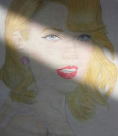 My Taylor Swift drawing. It was bad because it's just first ❕😅😘