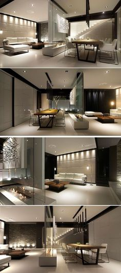 Room Divider Idea – This glass wall supports a TV, an art… -- Article ideas / research - modern room divider ideas for Best of Modern Design - So many good things! Modern House Design, Modern Interior Design, Interior Architecture, Interior And Exterior, Living Room Interior, Living Room Decor, Living Rooms, Dream House Interior, Interior Livingroom