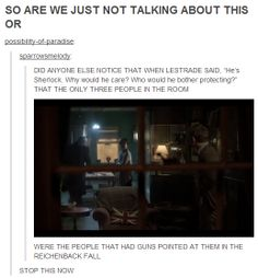 """I completely noticed that and almost burst into tears. Do they (besides John) still not know that he """"died"""" for them? Of course Sherlock cares! Sherlock Fandom, Sherlock John, Sherlock Holmes, Watson Sherlock, Jim Moriarty, Sherlock Quotes, John Watson, Johnlock, Detective"""