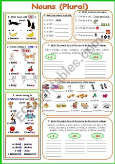 NOUNS (PLURAL) worksheet