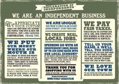 Shop Local - they do it this way in the UK....<3