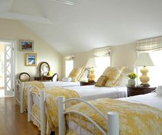 Love this yellow bedroom