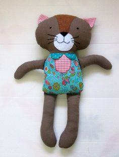 Fabric cat doll.