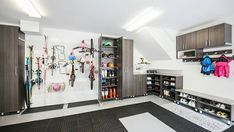 From sports equipment to seasonal decor - great garage storage can organize it all! ​Designed by @zainubmalikdesigns of @californiaclosetsvancouver 📸: @hayleyalicephoto California Closets, Seasonal Decor, Holiday Decorations, Garage Storage, Sports Equipment, Organization, Canning, Organize, Nashville