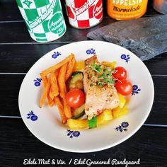 Edels Mat & Vin: Ovnsbakt laks med grønnsaker og søtpotet frites ! Squash, Chicken, Red Peppers, Pumpkins, Gourd, Pumpkin, Cubs