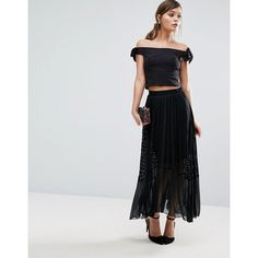 Coast Amira Lace Pleat Skirt (385 SAR) ❤ liked on Polyvore featuring skirts, multi, high-waisted skirts, high-waisted midi skirts, high waisted midi skirt, high waisted knee length skirt and pleated midi skirt