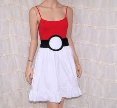 PokeBall Summer Tank Top Dress Cosplay Costume Adult by mtcoffinz, $80.00