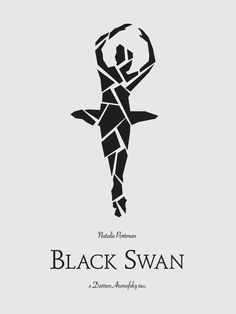 Black Swan - Minimal Movie Poster by Vincent Gabriele Minimal Movie Posters, Cinema Posters, Film Posters, Natalie Portman Black Swan, Black Swan 2010, 1969 Movie, Darren Aronofsky, Superhero Poster, Original Movie Posters