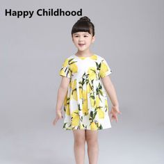 $8.72 (Buy here: https://alitems.com/g/1e8d114494ebda23ff8b16525dc3e8/?i=5&ulp=https%3A%2F%2Fwww.aliexpress.com%2Fitem%2Fgirls-dresses-summer-2016-1pc-girls-clothes-short-sleeve-print-lemon-girls-dress-3-10Y-kids%2F32689177996.html ) girls dresses summer 2016 1pc girls clothes short sleeve A-Line print lemon girls dress 3-10Y kids dresses for girls for just $8.72