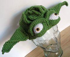 Fantastic crochet Yoda hat #starwars $42