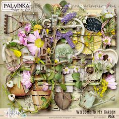 Welcome To My Garden Kit by Palvinka Designs | Digital Scrapbook @ at The Digichick