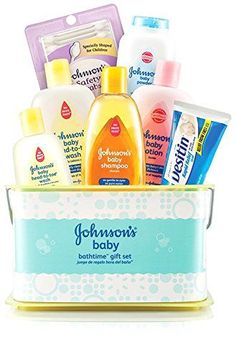 Johnsons Baby Care Bathtime Essentials Baby Gift Set Bath Set Newborn Gift NEW #JohnsonsBaby