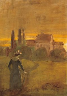 Gulácsy Lajos (1882-1932): Walk in Italy, 1899