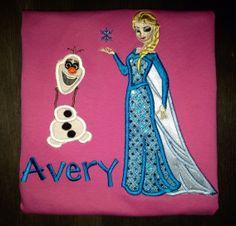 Frozen personalized shirt by BellaRagazzi on Etsy