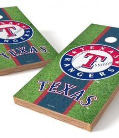 Backyard Games Texas Rangers Cornhole Board Set Sporting Goods
