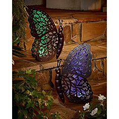 Etonnant Garden Oasis Solar Butterfly   I Have These And Love Them.