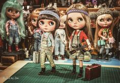 Puffy✨✨ #jodiedolls #kbabydolls #Blythe #puffy #Magelie #Evelyn #guitar #music #Jansworks #suitcase #adorable #cute #lovely #love