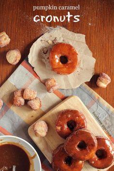 Pumpkin Spice Caramel Cronuts