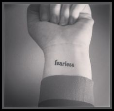 ..: ~*fearless*~ :.. ....................................  This is for 2 tattoos   This tattoo measure approx 1 inch.  This would make a
