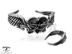 Alchemy Gothic Black Romance Pewter Bracelet Large by Alchemy -- Awesome products selected by Anna Churchill