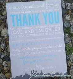 City themed wedding thank you cards from Rainbow Creations. Www.facebook.com/brittanysrainbowcreations
