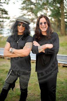 Slash & Ozzy Classic Rock And Roll, Rock N Roll, Ozzy Osbourne Black Sabbath, Saul Hudson, Gus G, 80s Rock Bands, Sharon Osbourne, Black Label Society, Estilo Rock