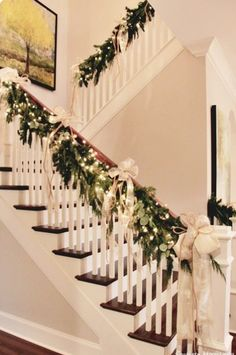 161 best christmas season images on pinterest christmas time decorated christmas trees and christmas decor - Christmas Decorations Stairs Pinterest