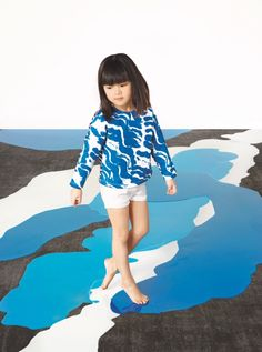 Cool printed top by Satu Maaranen for spring 2014- notice even the floor enhances photo- you will need to shoot from different angels to get floors & skies- I always loved to get in on the eyes