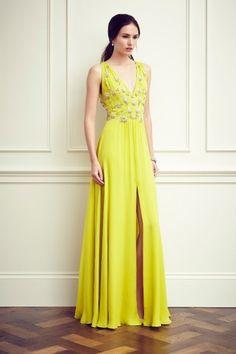 Abito gioiello giallo, Jenny Packahm