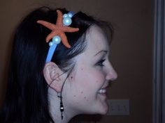 Ariel inspired headbands are perfect movie party favors! - A unique outdoor movie night theming idea from Southern Outdoor Cinema.
