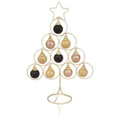 Finish off the look of your room with this glittered wire bauble table top decoration #Accessory #Christmas