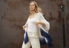 Looking Ahead – White + Warren White And Warren, Woven Wrap, Ombre Effect, Dip Dye, Modern Bohemian, Spring Collection, Blue Bird, Timeless Fashion, Wearable Art