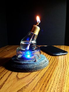 Check out this item in my Etsy shop https://www.etsy.com/listing/500354719/steampunk-mini-light-bulb-oil-lamp