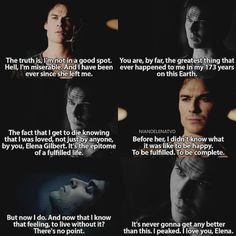 [7x15 - 5x22] Damon can't live without Elena, he needs her #thevampirediaries…