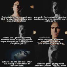 [7x15 - 5x22] Damon can't live without Elena, he needs her #thevampirediaries #tvd #damonsalvatore #elenagilbert #delena